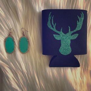 Jewelry - Deer koozi & turquoise earrings lookalike KS